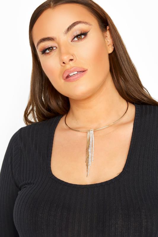 Gold Circle Tassle Necklace