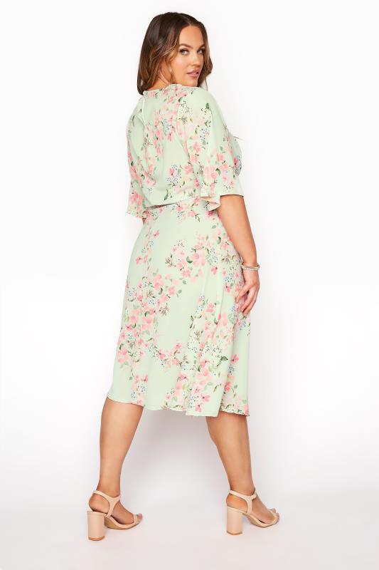YOURS LONDON Sage Green Floral Dress_C.jpg