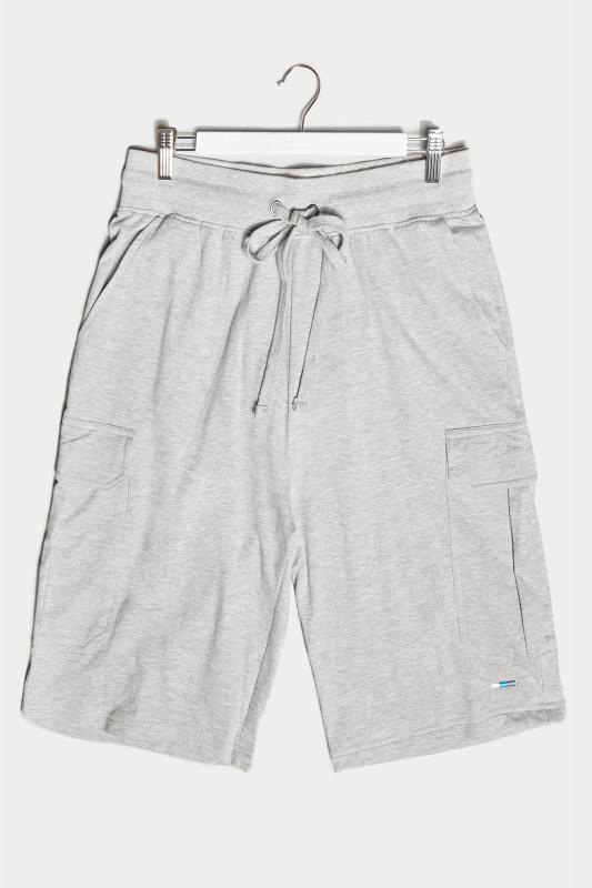 Men's  BadRhino Grey Marl Essential Cargo Jogger Shorts