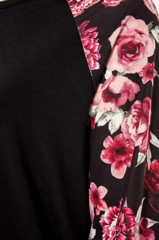 LIMITED COLLECTION Black Floral Raglan Sleeve Sweatshirt_S.jpg