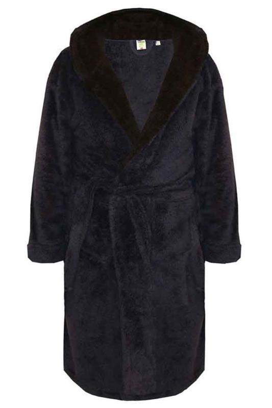 Plus Size  D555 Navy Newquay Soft Dressing Gown
