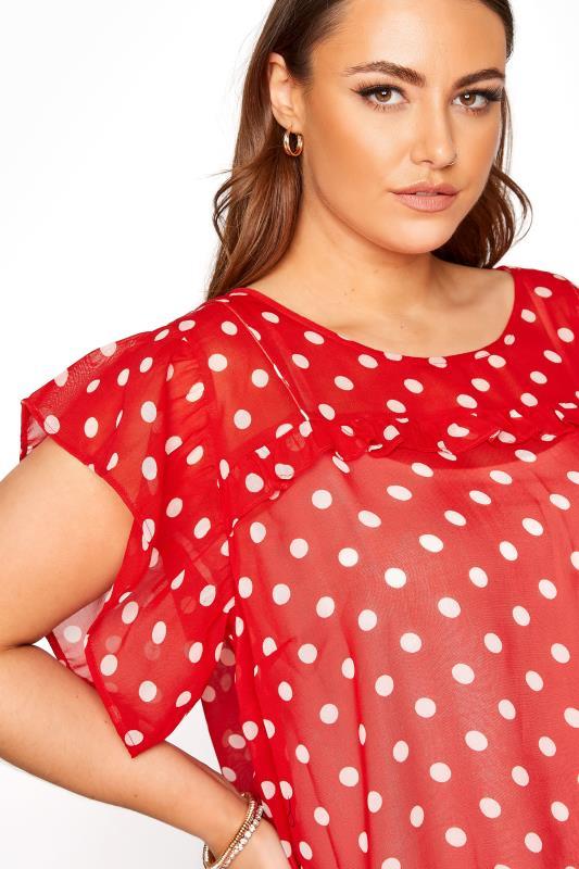 Red Polka Dot Frill Hem Tunic_D.jpg