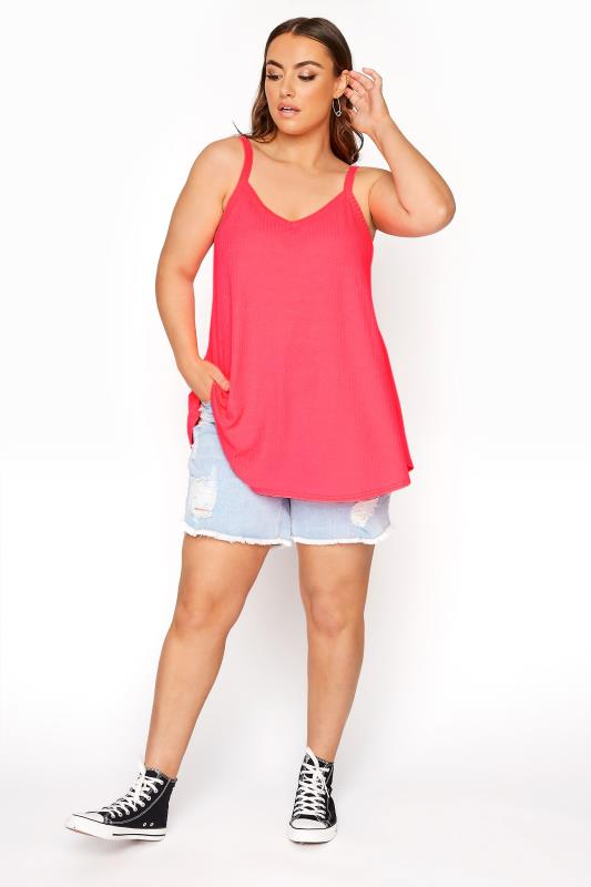 LIMITED COLLECTION Neon Pink Rib Swing Cami Top