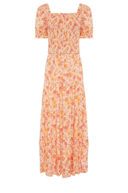 LTS Orange Short Sleeve Floral Maxi Dress_f.jpg