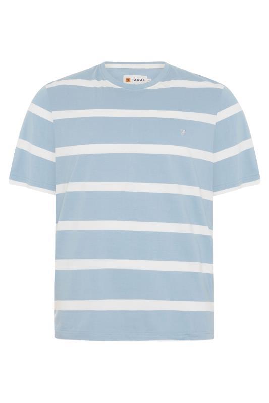 Men's  FARAH Blue Striped T-Shirt
