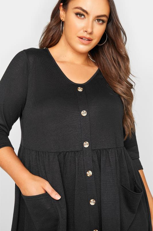 Black Mock Button Knitted Top_D.jpg
