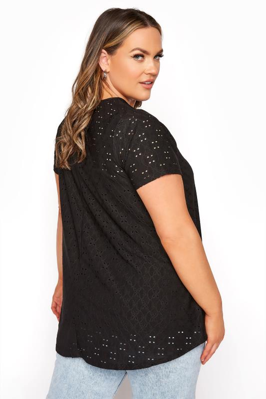 LIMITED COLLECTION Black Broderie Anglaise Swing Top_C.jpg