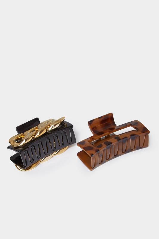 2 PACK Gold Chain & Tortoiseshell Hair Clip_A.jpg
