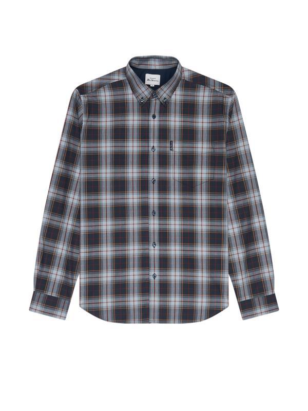 Plus Size  BEN SHERMAN Navy Check Heritage Shirt