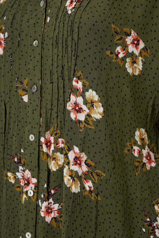 Khaki Floral Pinktuck Blouse_S.jpg