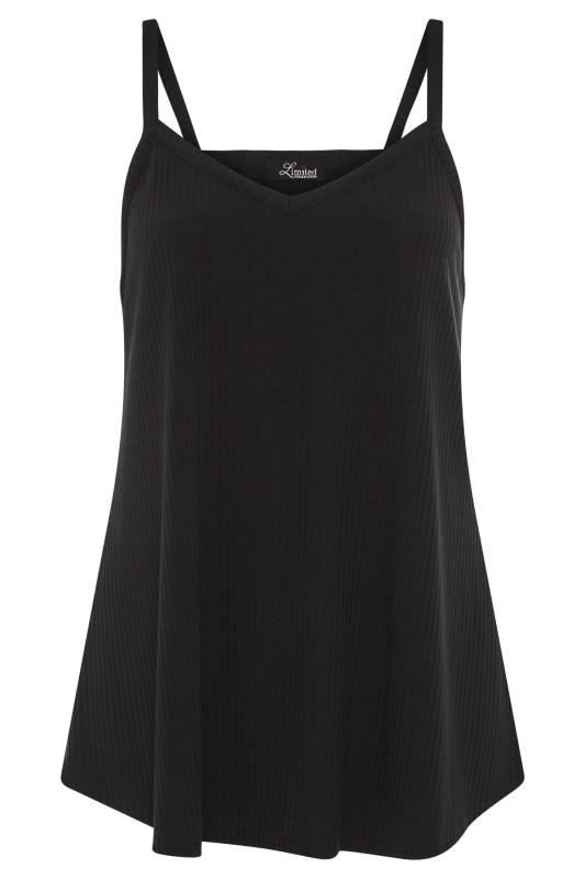 LIMITED COLLECTION Black Rib Swing Cami Top_F.jpg