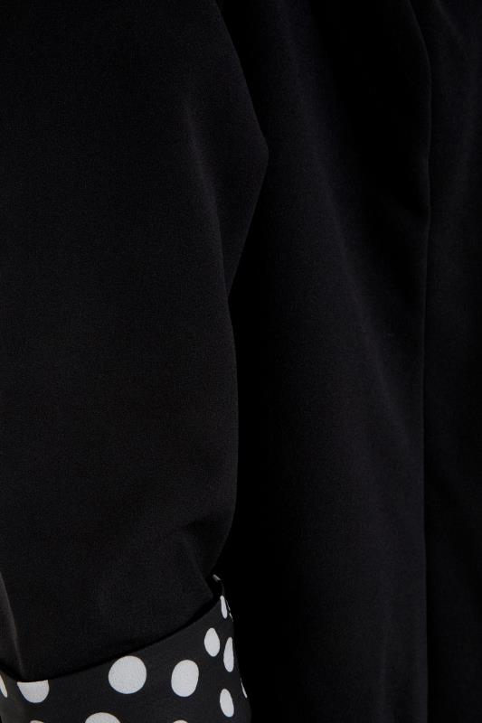 Black Polka Dot Roll Back Sleeve Blazer_S.jpg