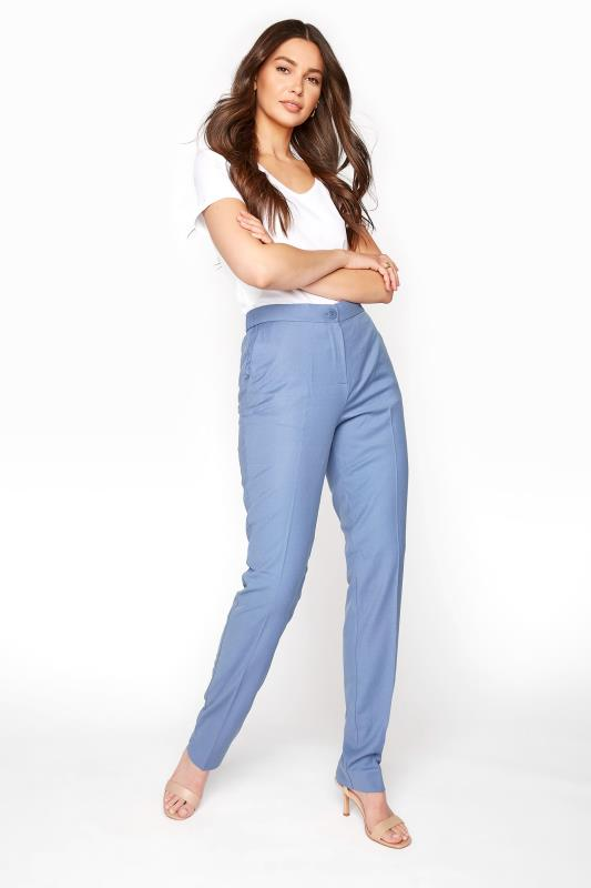 Tall Trousers Blue Slim Leg Suit Trousers