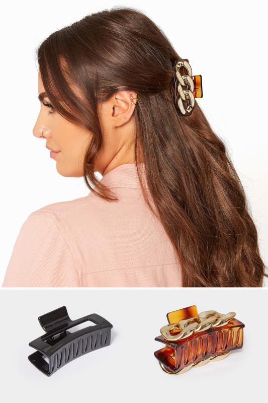 Grande Taille 2 PACK Gold Chain & Tortoiseshell Hair Clip
