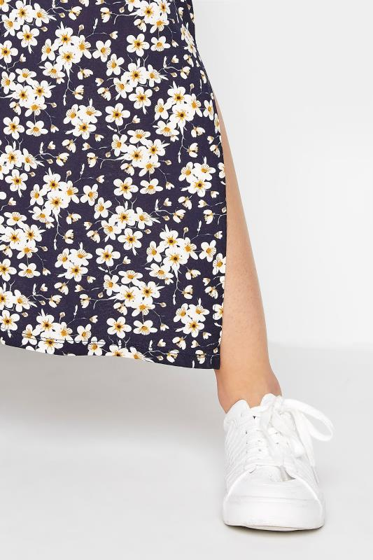 LTS Black Floral Print V-Neck Midi Dress_D.jpg