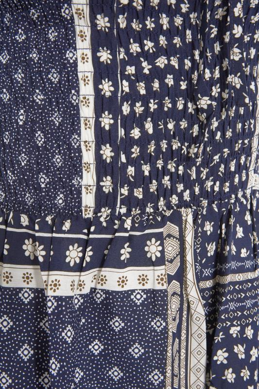 LTS Navy Shirred Bardot Maxi Dress_s.jpg