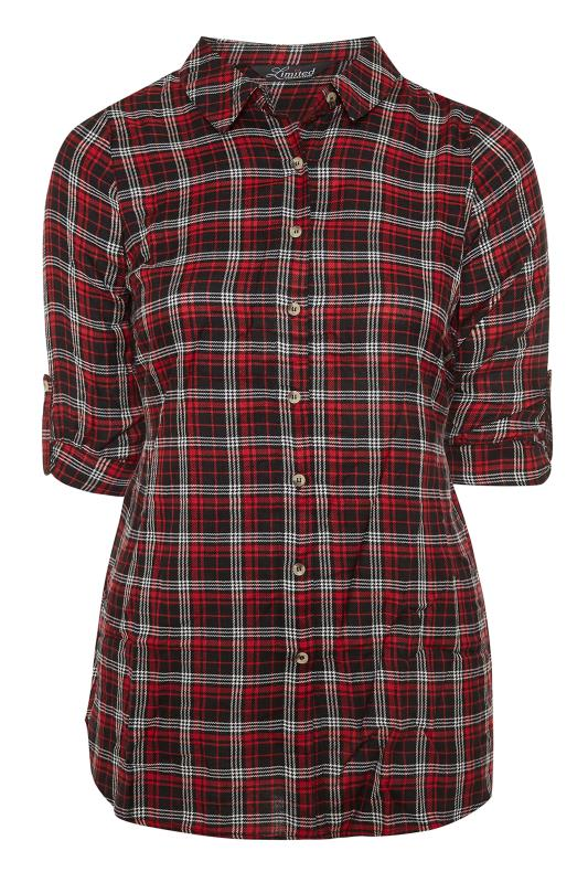 LIMITED COLLECTION Red Check Belted Shirt_F.jpg