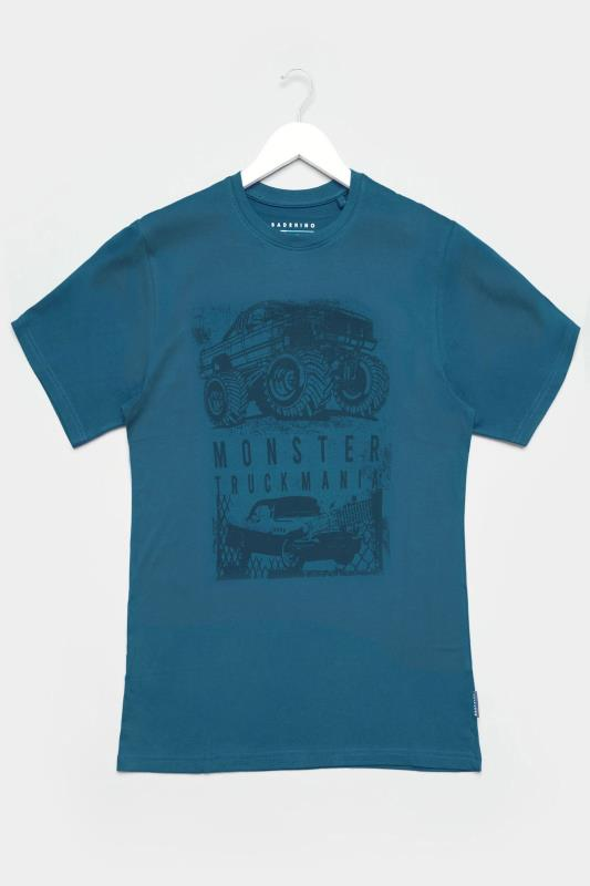 Men's Casual / Every Day BadRhino Ocean Blue Truck Graphic Print T-Shirt