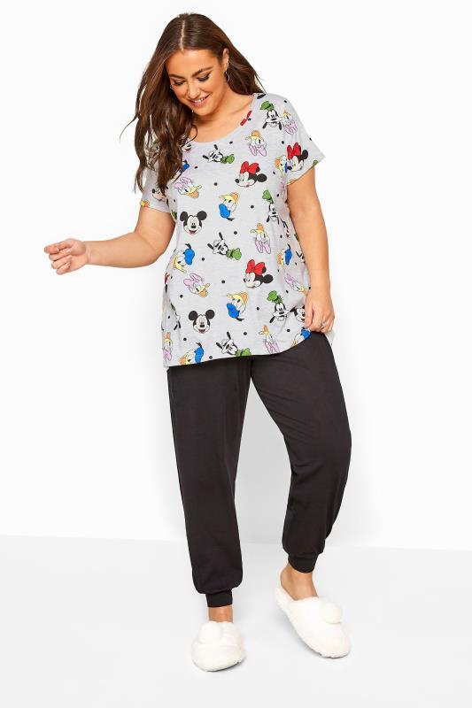 Plus Size  Grey Disney Characters Pyjama Set