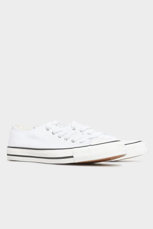 White Canvas Low Trainers In Wide Fit_B.jpg