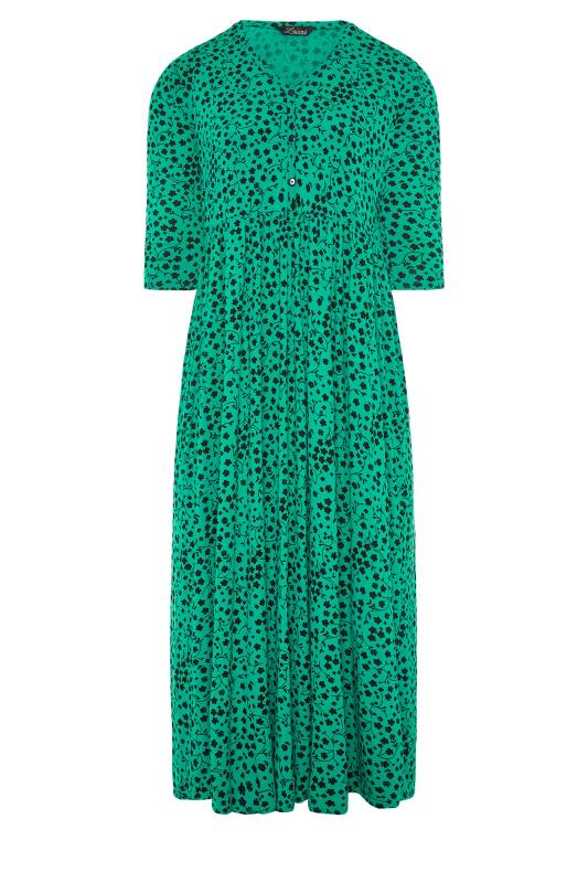 LIMITED COLLECTION Green Floral Button Midaxi Dress_F.jpg