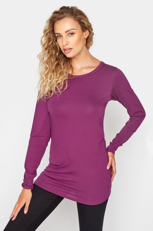 Tall  LTS Purple Long Sleeve Top