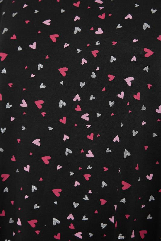 Black Heart Print Cotton Nightdress_S.jpg