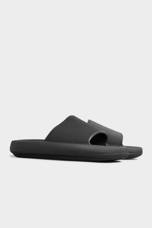 LIMITED COLLECTION Black Eva Sliders In Extra Wide Fit_C.jpg