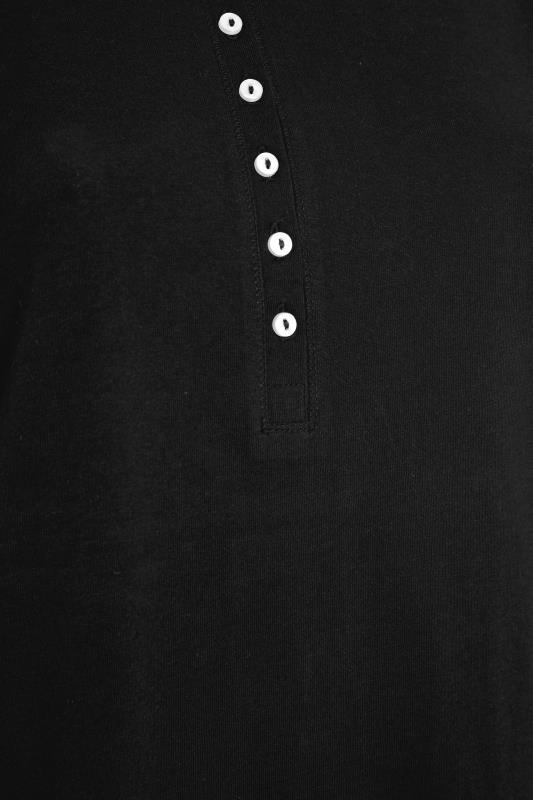 Black Button Scoop Neck Pyjama Top_S.jpg