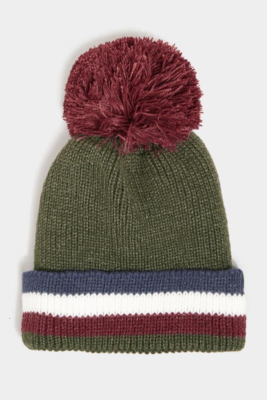 Men's  BadRhino Khaki Colour Block Fleece Lined Hat