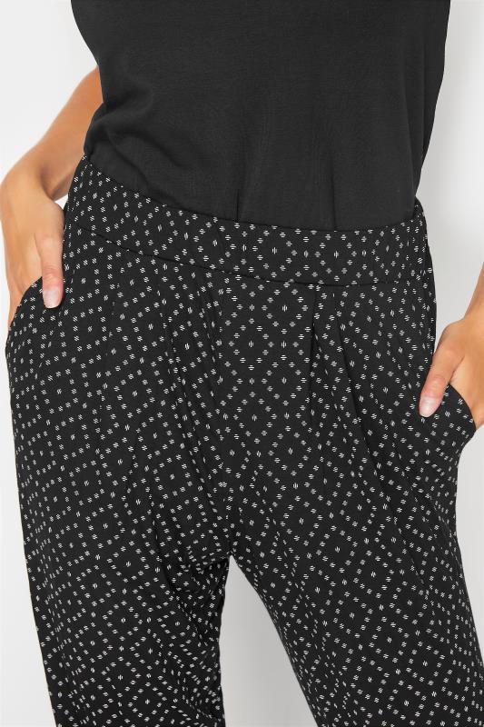 LTS Black Printed Harem Trouser_D.jpg