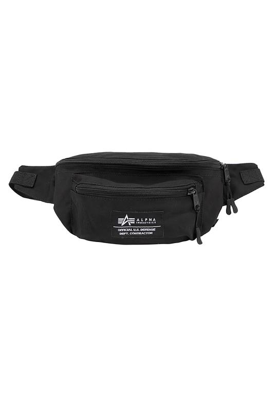 Plus Size  ALPHA INDUSTRIES Black Big Waist Bag
