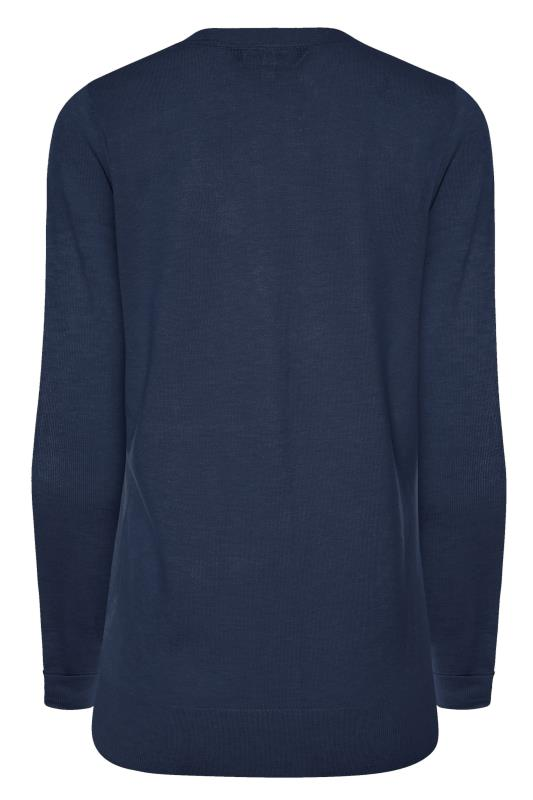 Navy Buttoned Knitted Cardigan_BK.jpg