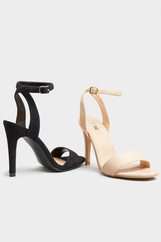 LIMITED COLLECTION Black Strappy Two Part Heels In Extra Wide Fit_E.jpg