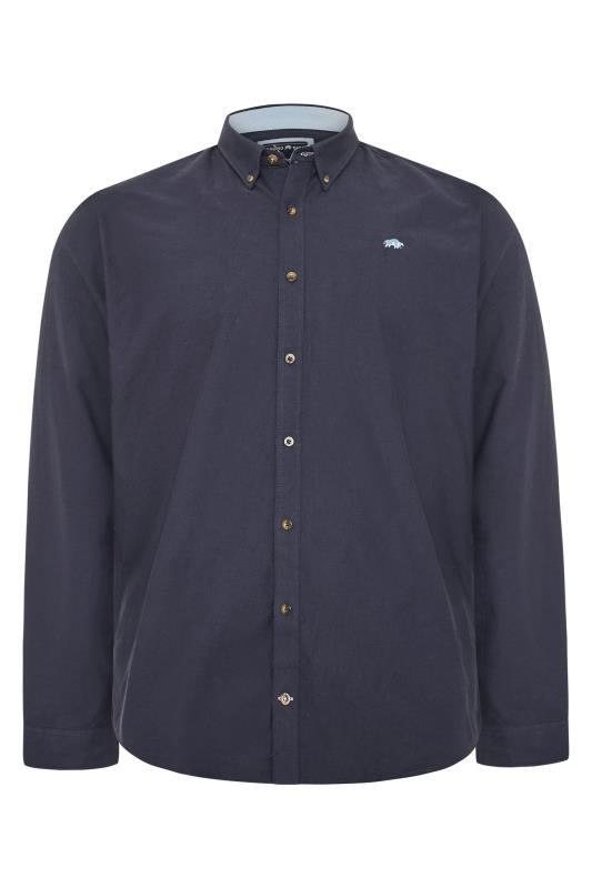Plus Size  RAGING BULL Navy Signature Oxford Shirt