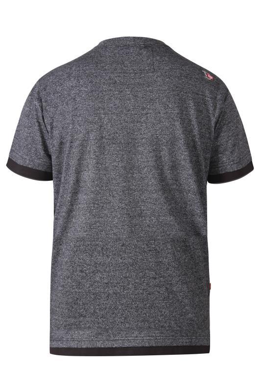 D555 Graues T-Shirt mit 'Brooklyn NYC Motorcycles' Grafik Print