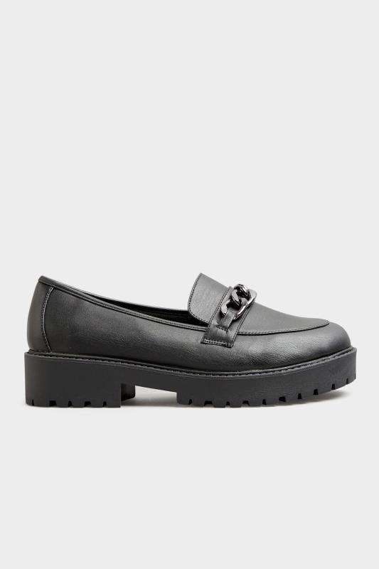 LIMITED COLLECTION Black Chunky Loafers In Extra Wide Fit_B.jpg