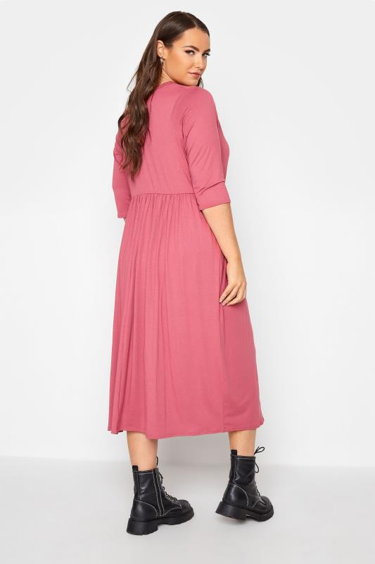 LIMITED COLLECTION Pink Button Midaxi Dress_C.jpg