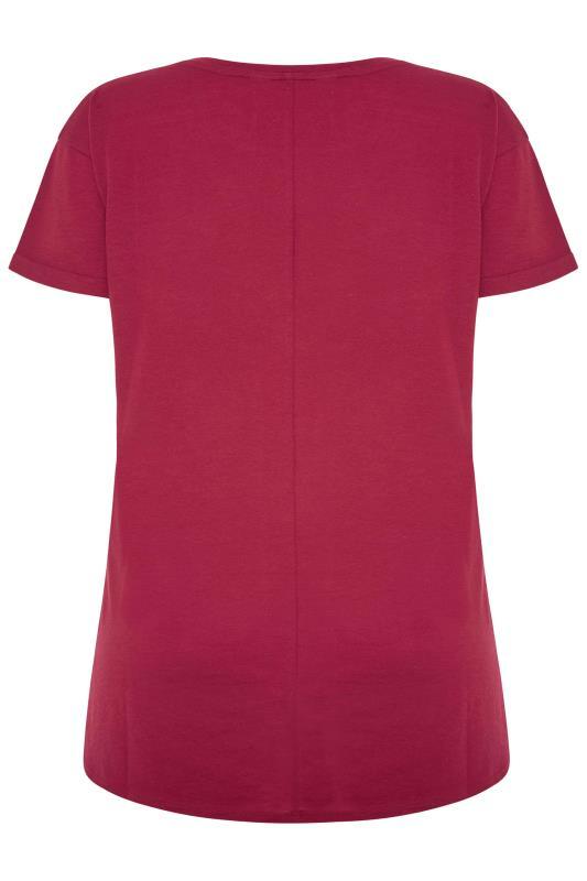 SUSTAINABLE Red Organic Cotton Blend Pocket T-Shirt_BK.jpg