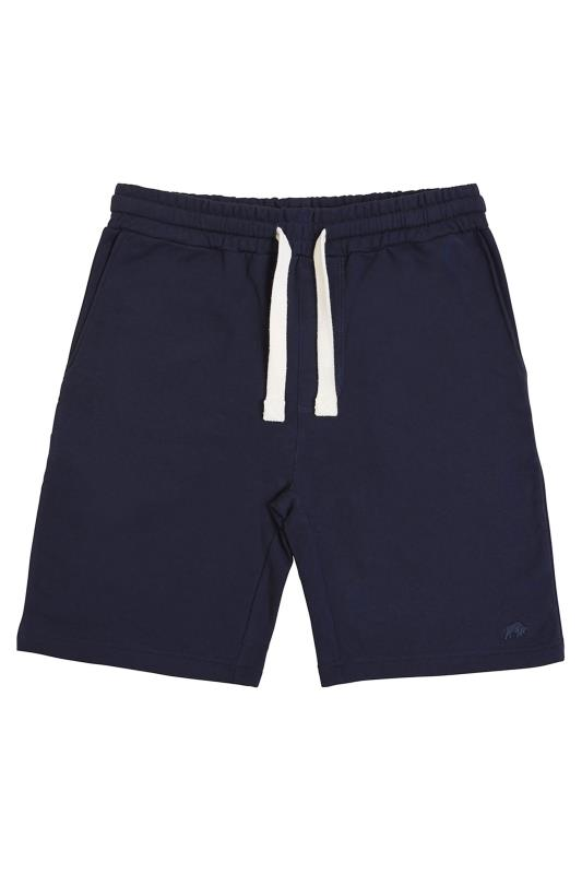 Plus Size  RAGING BULL Navy Jogger Shorts