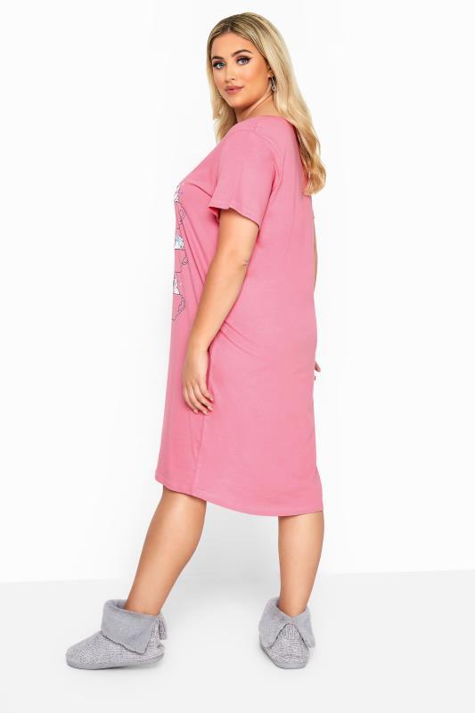 Pink Glitter Caturday Slogan Nightdress