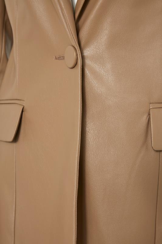 LTS Beige Faux Leather Blazer_S.jpg