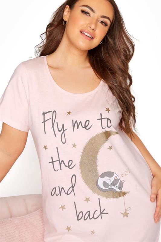 Blush Pink 'Fly Me To The Moon' Dipped Hem Nightdress_D.jpg