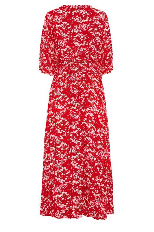 LTS Maternity Red & Pink Floral Wrap Dress_BK.jpg
