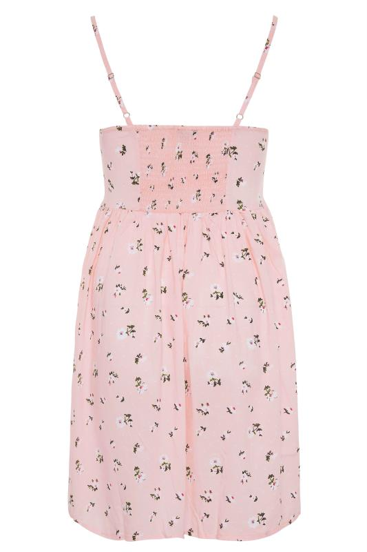 Pink Ditsy Floral Strappy Dress_BK.jpg