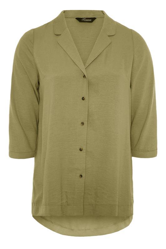 THE LIMITED EDIT Khaki Open Collar Blouse_F.jpg