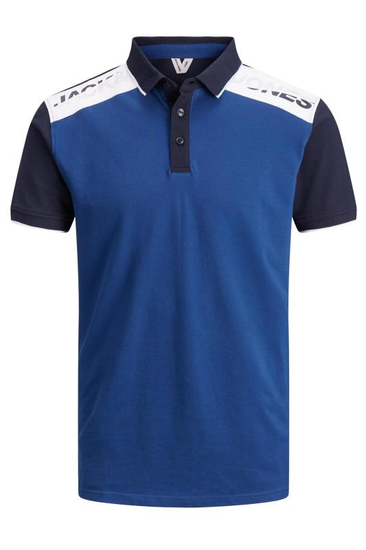 Plus Size  JACK & JONES Blue Amin Polo Shirt