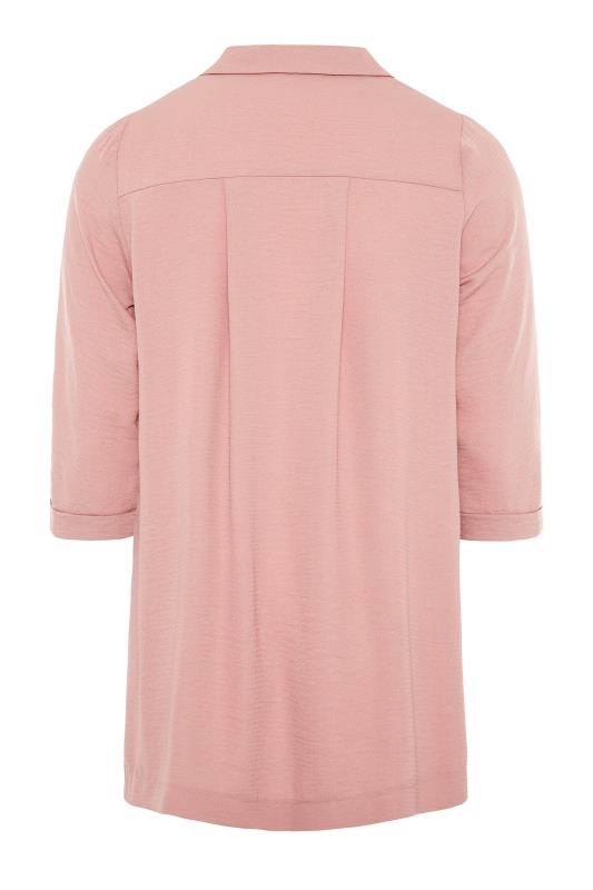 THE LIMITED EDIT Pink Open Collar Blouse_BK.jpg