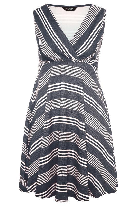 Navy Stripe Wrap Skater Dress_F.jpg