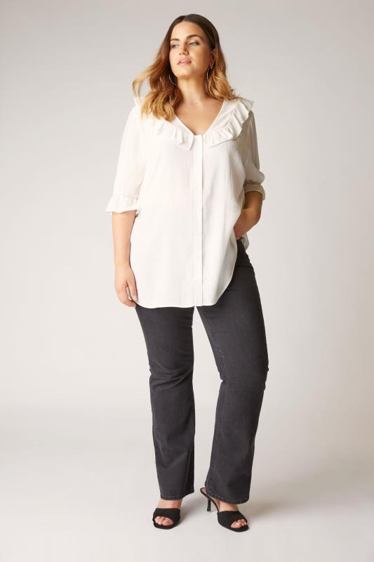 THE LIMITED EDIT White Button Frill Blouse_B.jpg